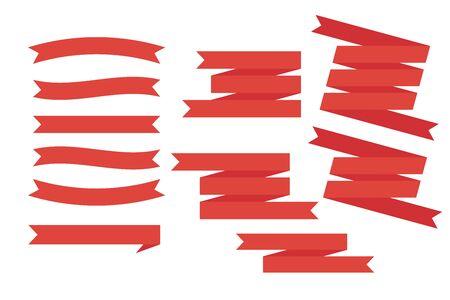 ribbon banner design set white background vector illustration