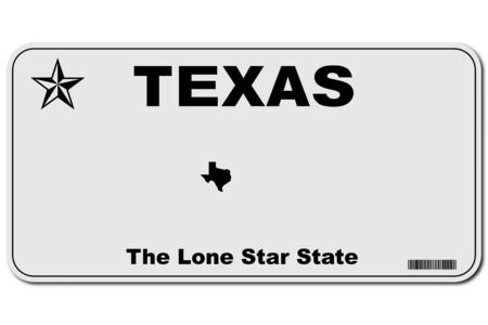 texas usa car license number plate vector illustration