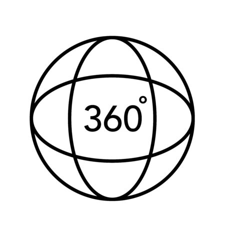 360 degree 3d virtual panorama view icon vector Vettoriali