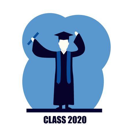 class graduation congratulations education self growth vector illustration