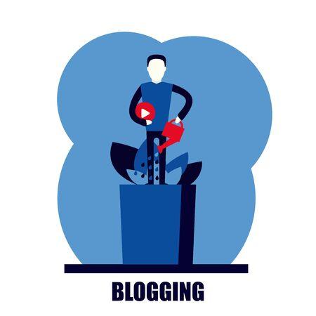 self growth development personal blog social media vector