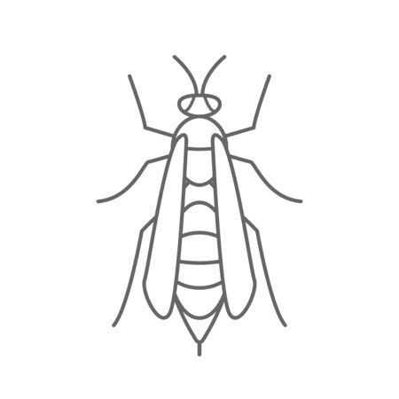 wasp icon  isolated white background vector illustration Zdjęcie Seryjne - 143931833