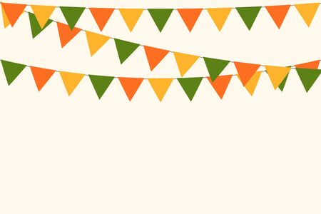 party carnival bunting garland flag background vector illustration