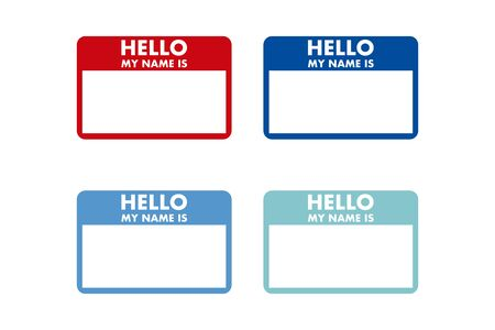 hello my name is sticker tag vector card Vektorgrafik
