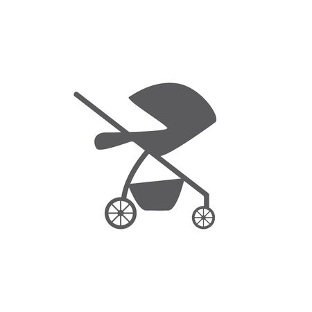 baby stroller isolated icon vector pram buggy carriage Vettoriali