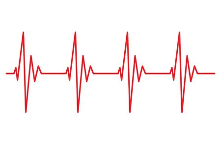 heart beat line pulse rhythm icon vector illustration