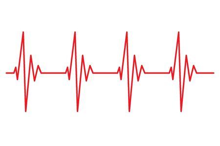 Herzschlag Linie Pulsrhythmus Symbol Vektor Illustration Vektorgrafik