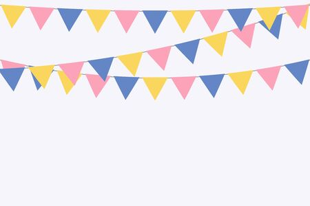 party carnival bunting garland flag background vector illustration Vectores
