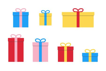 gift box present surprise ribbon icon vector illustration