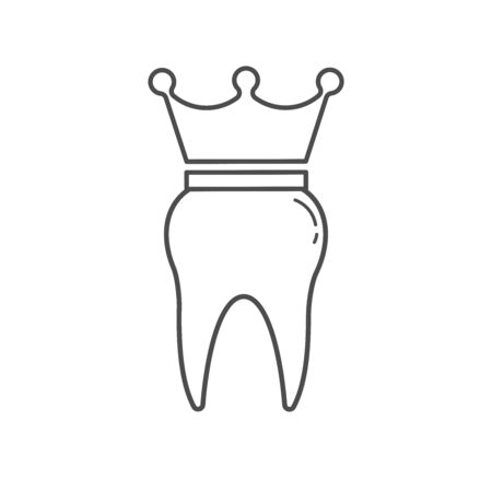 tooth icon dent smile crown   vector illustration