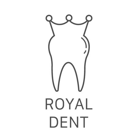 tooth icon dent smile crown logo vector illustration Vectores