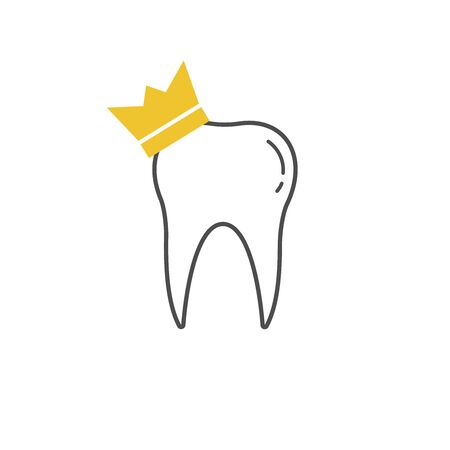 tooth icon dent smile crown vector illustration Vectores