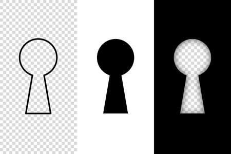 keyhole icon vector illustration.keyhole opportunity concept symbol. door lock shape