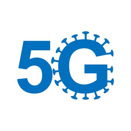 5g internet spreading coronavirus vector icon. news fake. technology symbol illustration white background isolated. crash mobile cellular antenna save live. wifi Vectores