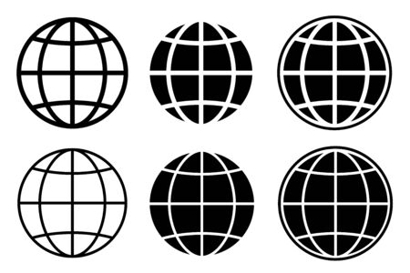 world set international earth globe icon vector illustration