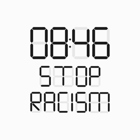anti racism vector banner. black lives matter. stop racist. racial diversity race concept. together against racial discrimination, inequality. people equality. cant breath idea. white background