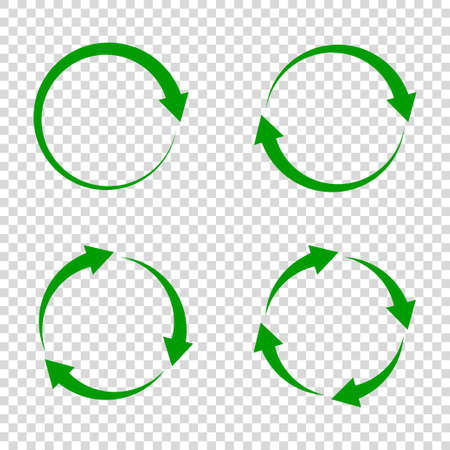recycle arrow icon vector illustration white background. reuse symbol. eco lifecycle. green cycle round set. bio emblem.