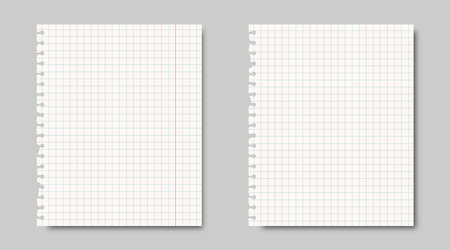 notebook paper sheet background. blue grades lines template. school homework on blank list