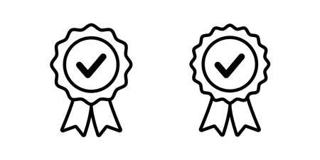 approval vector icon. certified seal isolated. approved stamp sign. accepted emblem illustartion  white background Illusztráció