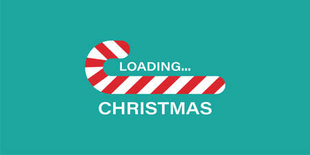 candy can christmas vector loading progress bar. holiday background illustration.