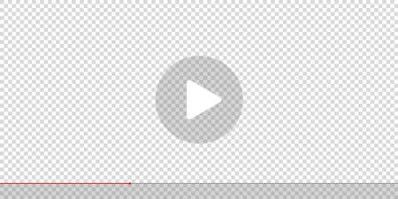 play button vector icon. white start video buttons transparent background. music sign ui screen. watch online video symbol illustration