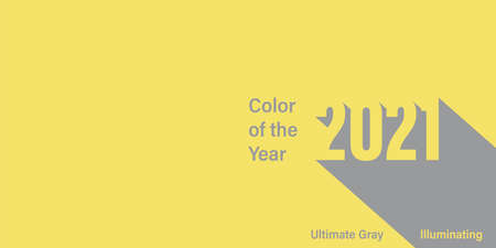Color of the year 2021 vector illustration. Illuminating yellow, ultimate gray.  colors background. Fashion colors. Trend modern colour.