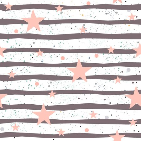 Cute Seamless Star Pattern. Great for backgrounds, backdrops, cars, postcards, invitations, headers, brochures, posters,wall art, flyer, etc. Vector Illustration.
