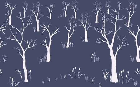 Cute Pattern with trees. Vector Illustration Illustration