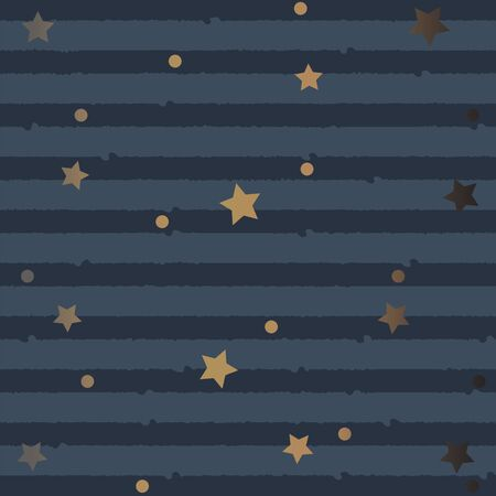 Seamless Pattern with stars and stripes. Vector Illustration