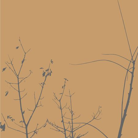 Silhouettes of Trees on subtle background. Tree Pattern. Vector illustration