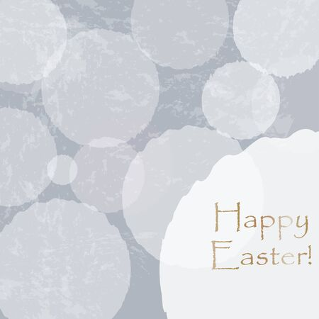 Happy Easter Greeting Card with golden message. Happy Easter Theme. Vector Illustration.