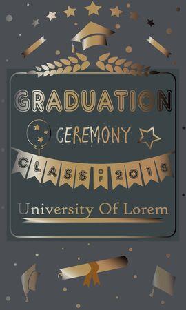 Grad 2018. festive poster on bubbly background. Vector Illustration