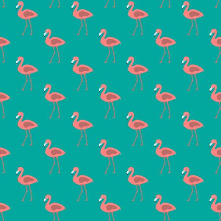 Seamless pattern with pink flamingos 일러스트