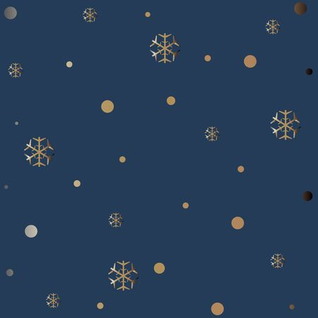 Gold and Silver Frame. For Cards, postcards, backgrounds, etc. Winter Holiday, Christmas Themes. Vector Illustration.