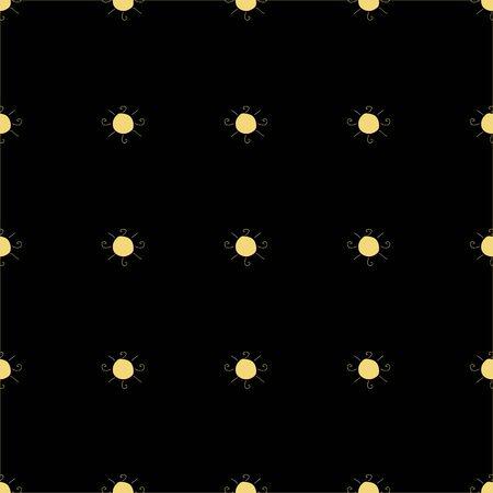 Seamless pattern with suns on dark blue background. Vector Illustration 일러스트