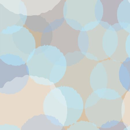 Seamless pattern with funny subtle transparent balls on beige background. Beautiful backdrop. Vector Illustration