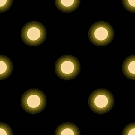 Seamless pattern with suns on dark background. Vector Illustration
