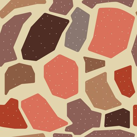 Cute Seamless Scandinavian Terracotta Pattern in modern colours. Modern abstract art for prints. Nordic Design.