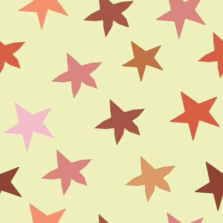 Seamless Pattern With Stars. Scandinavian Style. Vector Illustration