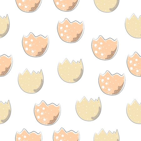 Cute Scandinavian Egg Terracotta Pattern in modern colours. Modern abstract art for prints.  Nordic Design. Vector Illustration Иллюстрация