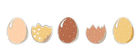 Cute Scandinavian Egg Terracotta Pattern in modern colours. Modern abstract art for prints.