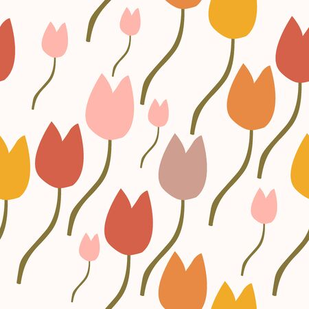Seamless Hand Drawn Floral Pattern. Lovely Delicate Design. Repeating sweet design. Vector Illustration