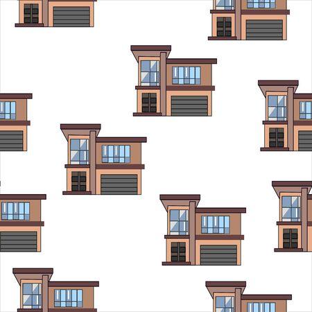 Set of Modern houses. vector Illustration