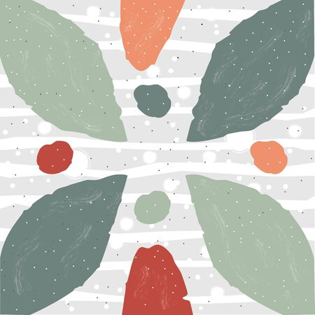 Cute Scandinavian Terracotta Pattern in modern colours. Cute Elements. Modern abstract art for prints.  Nordic Design.