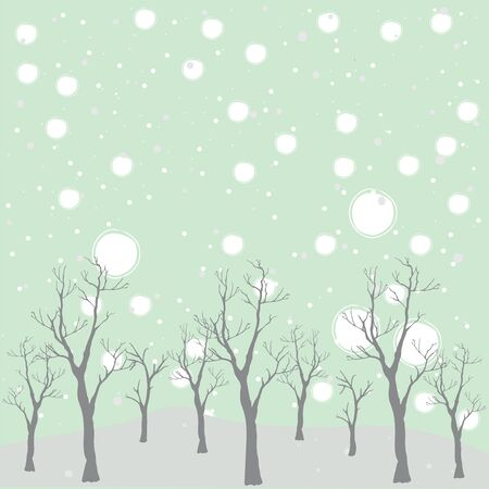 Cute Pattern with trees. Vector Illustration Stock Photo