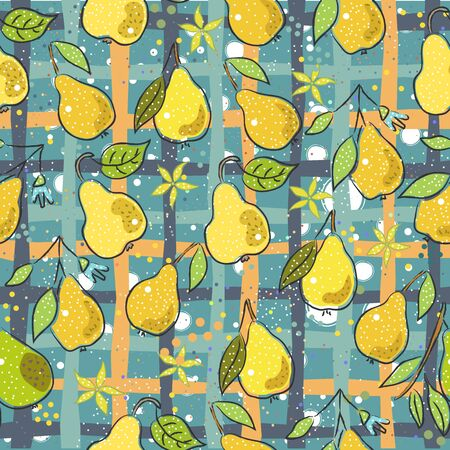 Seamless Pattern with Cute Vegetables. Scandinavian Style. Vector Illustration Ilustrace