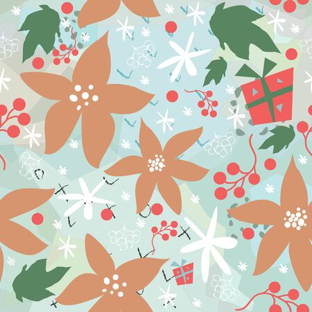 Floral Seamless Pattern. For backgrounds, wallpapers, fabric, prints, textiles, wrapping, cards, swatches, t-shirts, scrapbooks, blankets, pillows, etc. Unique Delicate Design. Vector Illustration. Иллюстрация