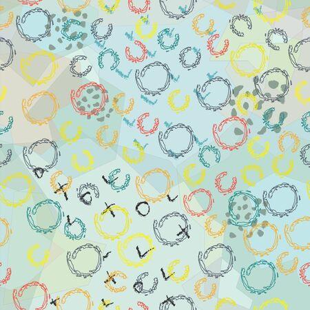 Terracotta Abstract Seamless Pattern. Modern Digital Design. Modern Fashion Scandinavian Style. Contemporary Colors and Design.  Ilustração