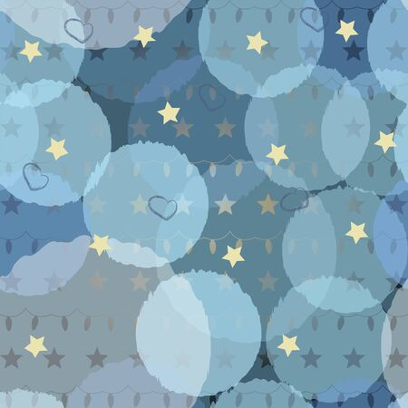 Shiny glittering stars and garland background. Vector Illustration Illustration