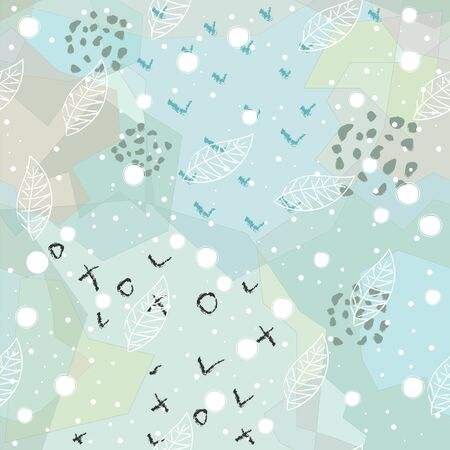 Seamless Winter Pattern. Merry Christmas Texture. Scandinavian Style